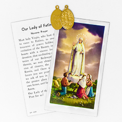 Fatima Apparitions Prayer Card.