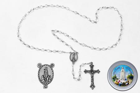 Fatima Crystal Rosary & Rosary Box