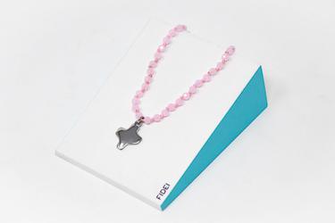Pink Crystal Cross Bracelet.