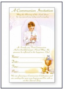 Boys First Holy Communion Invitation cards