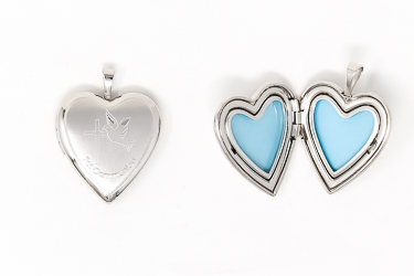 Communion Locket Heart Pendant.