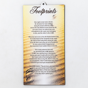 Footprints in the Sand Wall Plaque.