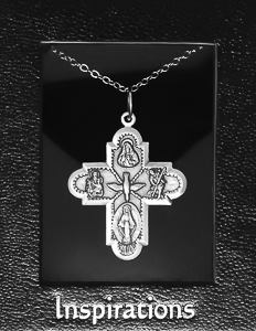 Four Way Medal Cross Necklace.