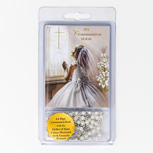 Communion Rosary Beads.
