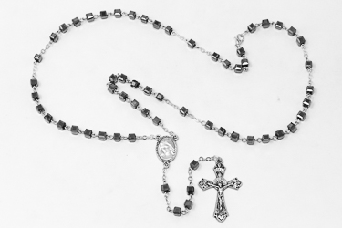 Glass TAU Rosary Beads.