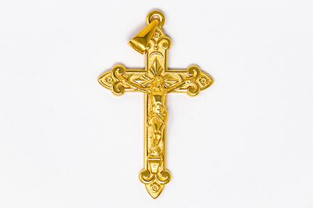Gold Crucifix pendant.