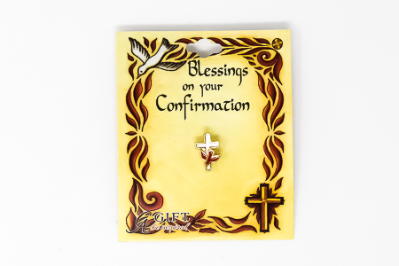 Confirmation Cross and Dove Pin.
