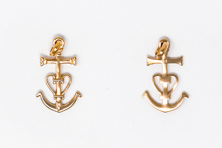 Cross & Anchor Pendant