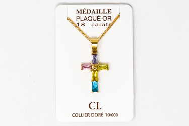 Gold Plated Cross Necklace.