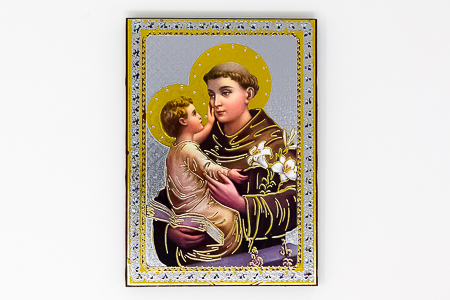 St Anthony Gold Foil Wall Plaque.