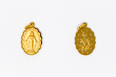 Miraculous Medal Gold.