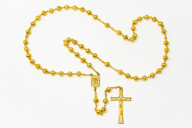 Gold Lourdes Rosary.