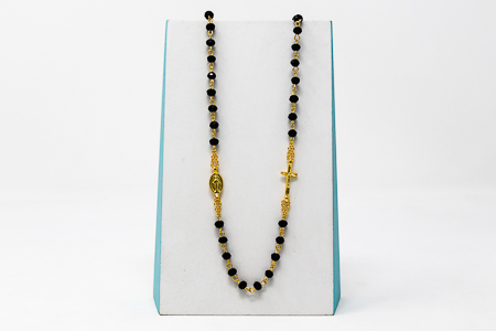 Gold 5 Decade Rosary Necklace.