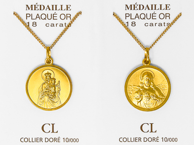 Gold Miraculous Medal Necklace.