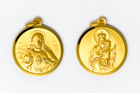 Scapular Medal of the Sacred Heart of Jesus.