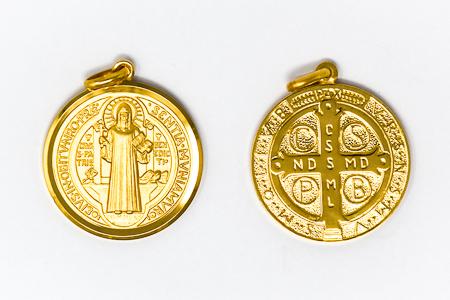St Benedict Gold Pendant.
