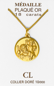 Gold Christopher Necklace.