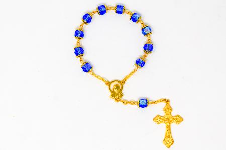 Gold Virgin Mary Decade Rosary.