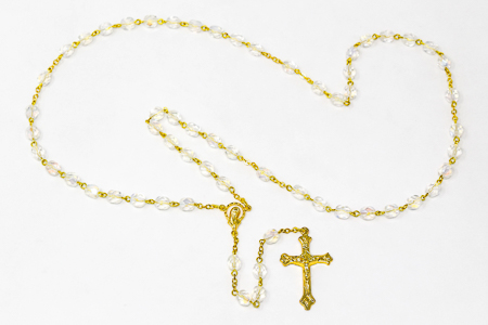 Gold Virgin Mary Rosary Beads.