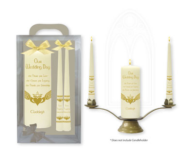 Gold Wedding Candles