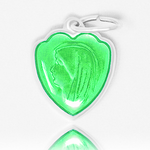 Green Heart Lourdes Pendant.