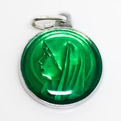 Green Virgin Mary Medal.