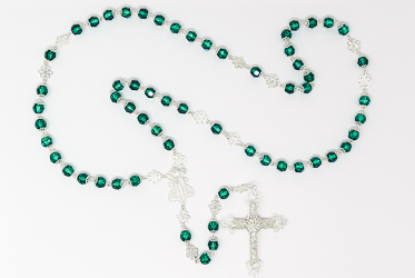 Green Swarovski Rosary Beads