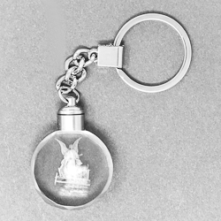 Guardian Angel Crystal Key Ring.