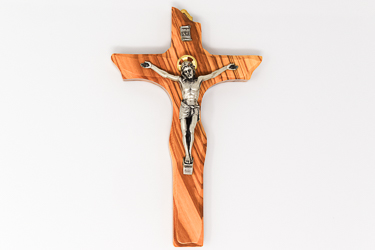 Solid Olive Wood Crucifix