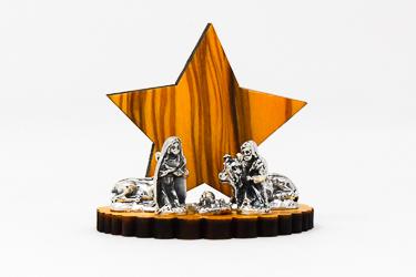 Wooden Star Nativity Scene.