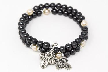 Hematite Rosary Bracelet.