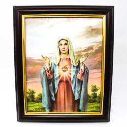 Immaculate Heart of Mary Framed Picture.