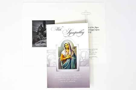 Immaculate Heart of Mary Card.