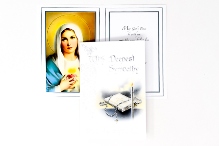 Immaculate Heart of Mary Mass Card.