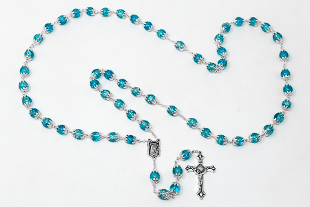 Lourdes Turquoise Rosary Beads.