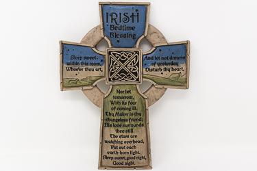 Bedtime Blessing Resin Cross.