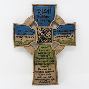 Bedtime Blessing Resin Cross.