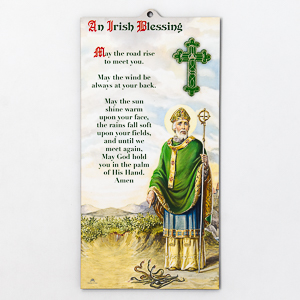 St.Patrick-Irish Blessing Wooden Wall Plaque.