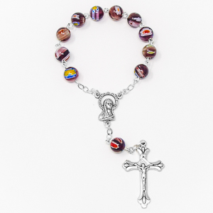 Murano Glass Hand Rosary Beads.