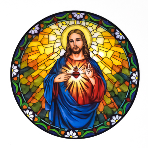 Sacred Heart of Jesus Sun Catcher.