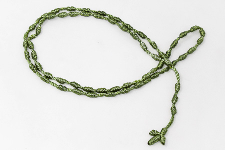 Knotted Rosary Green