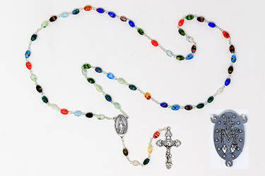 Azure Stone Miraculous Silver Rosary.