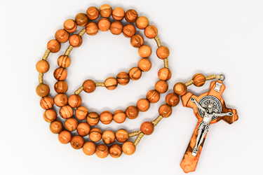 St Benedict Olive Wood Rosary.