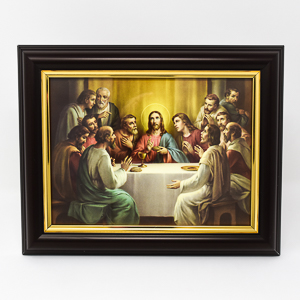 Last Supper Wood Framed Picture.