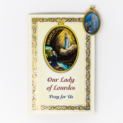 Lourdes Prayer Card.