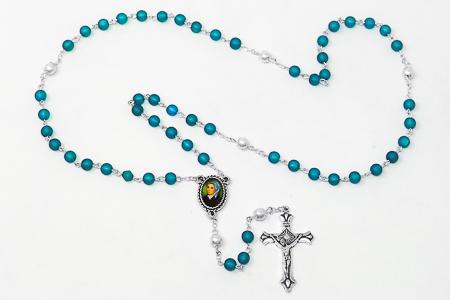 Blue Bernadette Rosary.
