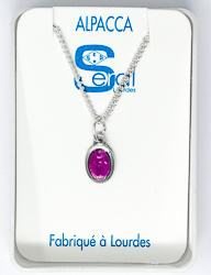 Purple Miraculous Medal Necklace.