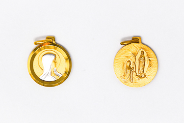 Gold Our Lady of Lourdes Pendant.