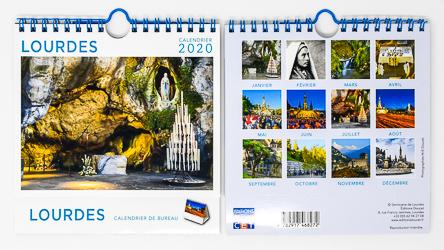 Desktop Lourdes 2020 Calendar.