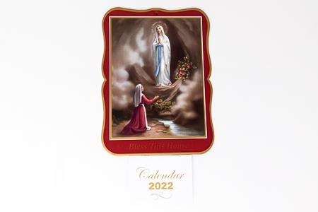 Lourdes 2022 Calendar.